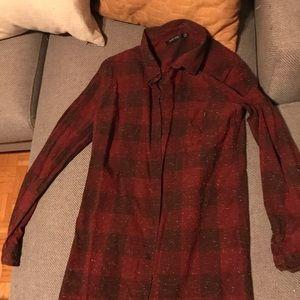 Obey plaid shirt dress